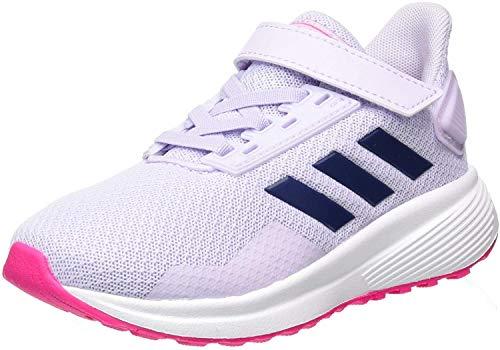 adidas Duramo 9 C, Zapatillas para Correr, Purple Tint/Tech Indigo/Shock Pink, 30 EU
