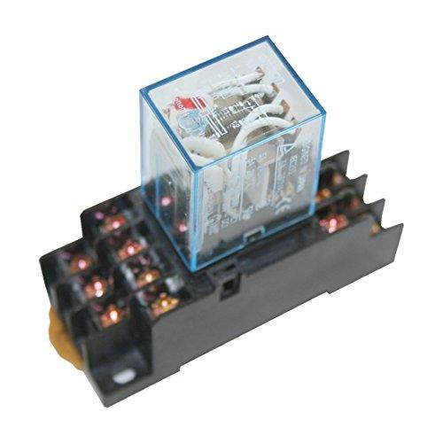 Omron Hutschienenrelais Hutschienensockel Relais mit roter LED 4 Wechsler 220V (0001)