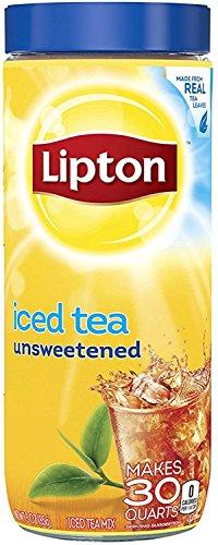 Lipton Black Iced Tea Mix Unsweetened 30 qt (Pack of 5)