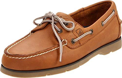 Sperry Mens Leeward 2-Eye Boat Shoe, Sahara, 11 (Best Way To Clean Sperry Topsiders)