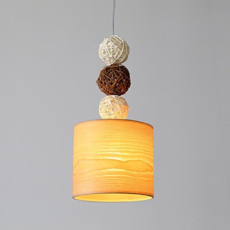 Holz- Kronleuchter Creative Bar dekorative Leuchten, einfachen Kaffee Shop Single Head Light drei Scheinwerfer Schlafzimmer Nachttischlampe Leuchten (Farbe  A)