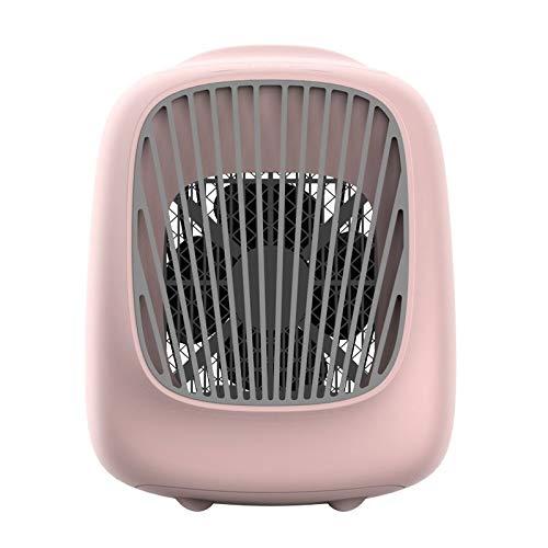 Shangya. Fan di Raffreddamento Elettrico Mini condizionatore d'Aria Desktop USB Uso Domestico umidificante Elemento filtrante autonomo Elemento idratante Fan Estate Aria (Color : White)