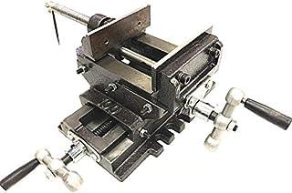 F-BOX 2軸 スライドクロスバイス 最大開口88mm 万力 ボール盤をフライス盤や旋盤に 作業台 卓上