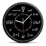 Froster Reloj de pared silencioso, sin tictac, decoración del hogar, regalo de matemáticas para hombres y mujeres