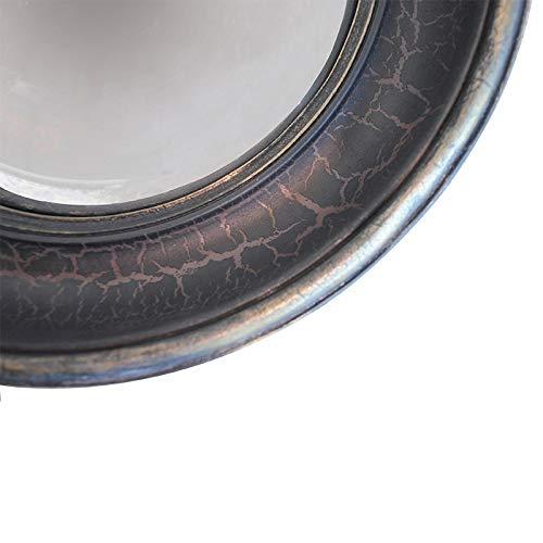 Chehoma Specchio Magellano - Prodotto Versatile, Finitura patinata | Un Piccolo Accessorio Realizzato con Legno e Uno Specchio ricurvo - Marrone grigiastro (L27 x H27 x P4 cm)
