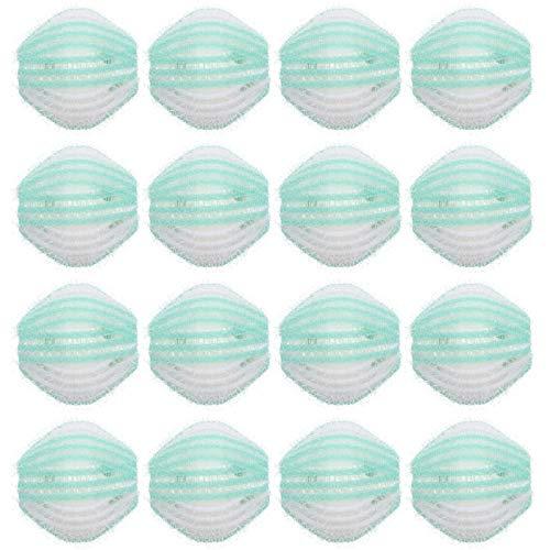 SOLUSTRE 16 bolas de lavandería de pelo de pelusa, bolas de lavandería reutilizables, para lavadora, color verde