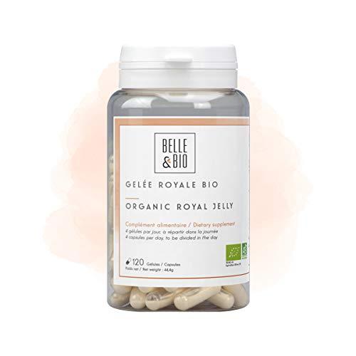 Belle&Bio Gelée Royale - 120 Gélules - 175 mg/Gélule - Anti-Fatigue - Certifié Bio par Ecocert - Fabriqué en France, Beige, Gelée Royale, 44.4 gramme