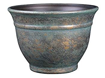 Classic Home and Garden 10509D-377R 9  Alena Planter 9  Weathered Copper