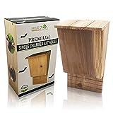 NatureZ Edge Bat House for Outdoors, Wood Bat Box for Outdoors, Wooden Bat Houses for Outdoors