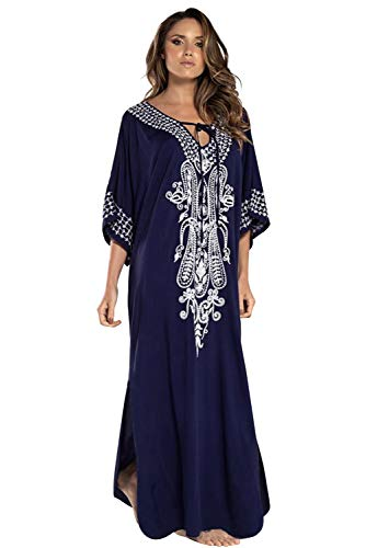 Vestido Boho Mujer Largo Talla Grande Camisolas y Pareos Indios Bohemio Hippie...