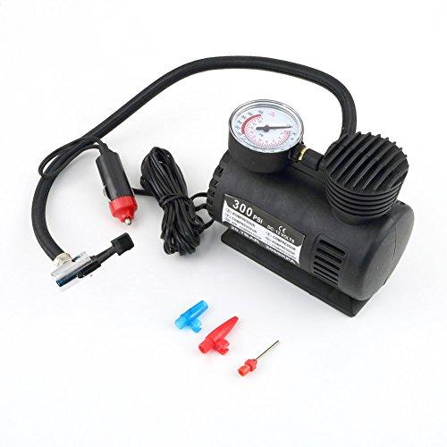 CareforYou 12 V universal portátil versátil auto compresor de aire eléctrico bicicleta motor rueda neumático infaltor bomba 300 PSI CSL