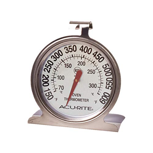 AcuRite 00620A2 Stainless Steel Oven Thermometer, 1, Silver
