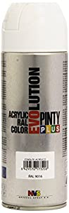 Pintyplus Evolution - Pintura spray acril, Blanco 9016/602, 400 ml