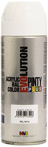 Pintyplus Evolution - Pintura spray acril, Blanco 9016/602, 400 ml
