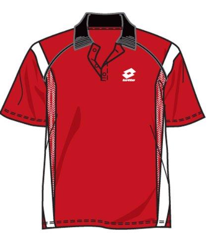 Lotto - Tennis-Poloshirts für Mädchen in rot/weiss