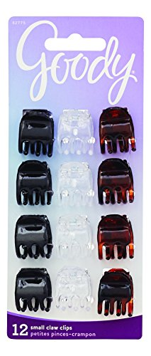 Goody Classics Claw Clip, 3 Prong Mini, 12-Count (Pack of 6) by Goody Classics