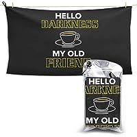 こんにちは闇私の古い友人おかしいコーヒー恋人風呂超吸収性タオル