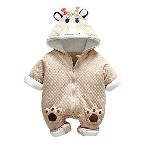 Livoral Neugeborene Kleinkind Winter Baby Jungen Mädchen schöne Strampler Overall verdickt Outfit(Kaffee,11-15 Monate)