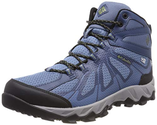 Columbia Homme Chaussures Multisport, Imperméable, PEAKFREAK XCRSN II XCEL MID OUTDRY, Taille 45, Bleu (Steel, Cool Moss)