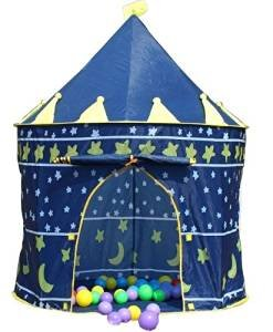 Denny International® Prince Castle Play Tent Indoor Garden Outdoor Indoor Palace Beach Summer Tent Camp Shelter (Blue Prince)