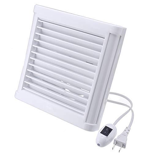 STRAW Extractor de baño silencioso Impermeable de 4/6 Pulgadas, Ventilador de ventilación Fuerte para Ventiladores de ventilación de Ventana de baño de Cocina (Size : 4)