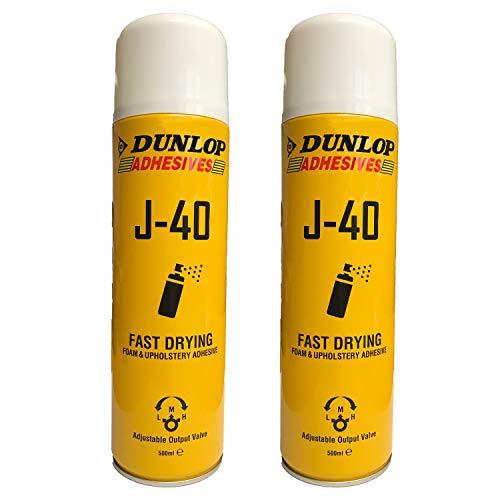 2 x 500ml Dunlop Schaumstoffkleber Polsterkleber Sprühkleber Industriekleber