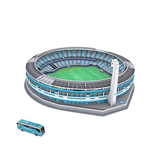 SDBRKYH Stadion Model, Fußballstadion 3D Puzzle Fans Estadio Presidente Perón Gebäudemodell pädagogisches Spielzeug Souvenir