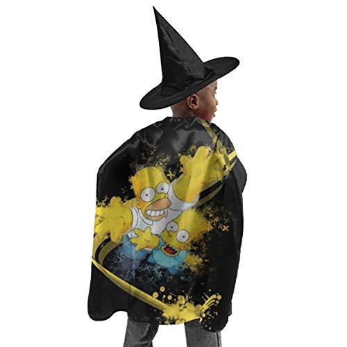 CrazyCoolArt Bart Simpson Homer - Juego de disfraz de bruja para Halloween