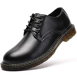 [JOYWAY] マーチンシューズ メンズ ポストマンシューズ 3ホールシューズ 3E 本革 メンズ レディース ワークブーツ 定番 ユニセックス 3ホール ブーツ ブラック ブラウン 4ホールブラック 27.5cm