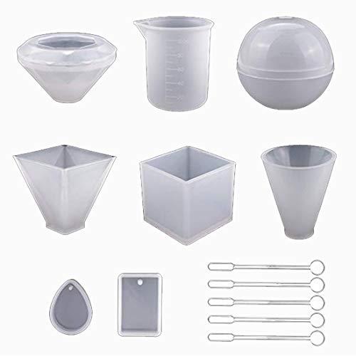 2585 Forma de silicona Mold 58x57mm forma lechuza resin resina artesanía abformen le echaré