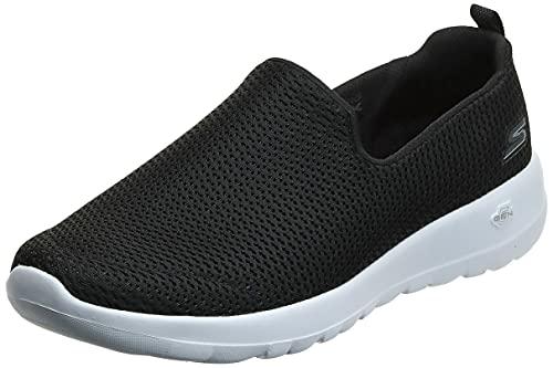 Skechers womens Go Joy Walking Shoe, Black/White, 8.5 US
