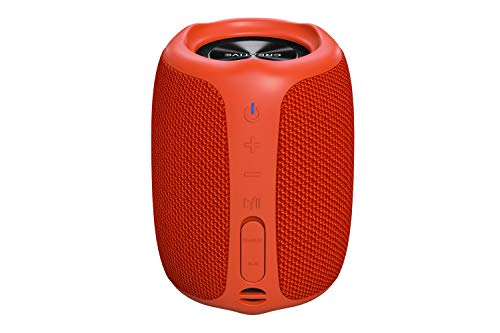 Creative Muvo Play Portable Bluetooth 5.0 Speaker, IPX7 Waterproof for Outdoors, Up to 10 Hours of Battery Life, with Siri and Google Assistant (Orange)