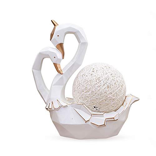 OUMIFA Statua Ornamenti Cigno Creativo for Inviare Regali pratici Ornamenti Cigno Soggiorno mobili Armadio Stanza del Vino Figurine Craft (Color : White)