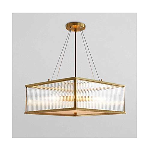 Lámpara de techo de cobre para restaurante, salón o dormitorio, creativa, sala de estudio, hotel, lámpara de techo moderna [clase energética A +]