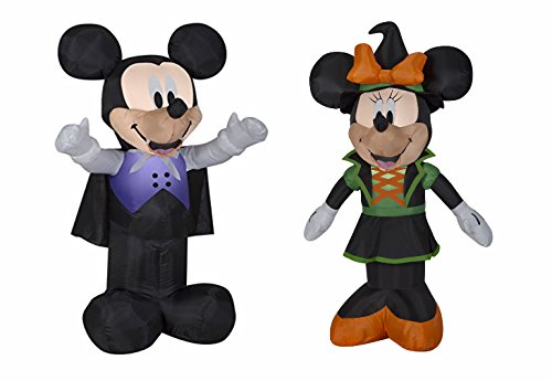 Mickey and Minnie Halloween Blow Up Yard Decorations