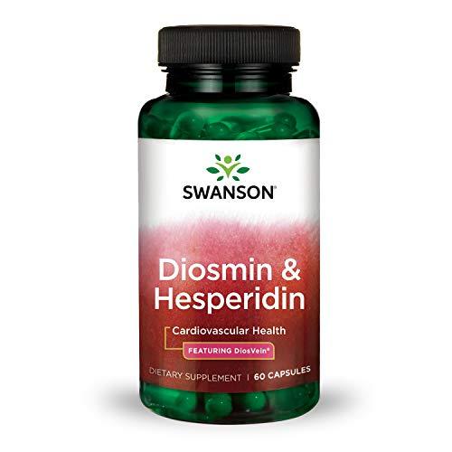 Swanson Diosmin Hesperidin Cardiovascular Support Blood Health Vascular Wall Integrity and Tone Antioxidant Activity Supplement 500 mg Diosmin from DiosVein® 100 mg Hesperidin 60 Capsules