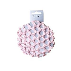 Redecilla de pelo rosa para moños, ballet y danza, de 8 cm