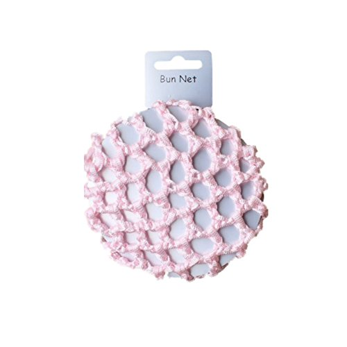 Dutt-Haarnetz für Mädchen, klein, rosa, mit Knoten, 8 cm, für Ballerinas