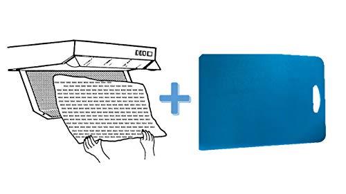 Conny Clever 2 Stück universal Filter Nr.1006 für Dunstabzugshaube Fettfilter mit Sättigungsanzeige Küchen-Cutting Boards Flexible Kunststoff