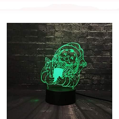3D illusion LED Nachtlicht Weihnachtsserie Weihnachtsmann Hirsch Schneemann Geschenkbox Mode USB Lampe Farben ändern Schreibtisch RGB Nacht Lampensockel Kid Kid Sleep Nachtlicht