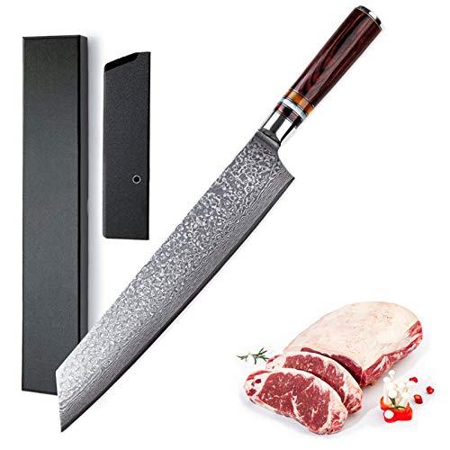 14.6 pulgadas Damasco Chef Cuchillo Cuchillo de cocina japonés 67 Capas de acero altas de carbono VG10 Dureza 60 HRC con caja de regalo Cuchillo (Color : Chef Knife)