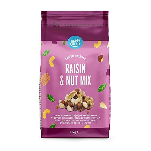 Marque Amazon - Happy Belly Mélange de fruits à coque et raisins secs, 1000 g