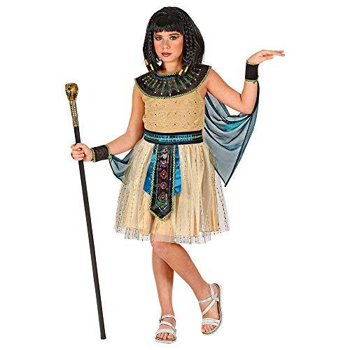 Widmann 01897 Kinderkostüm Ägyptische Herrscherin, Mädchen, Gold, 140 cm