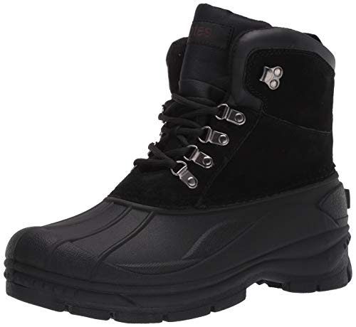 totes Mens Cold Weather Boots with Lace-Up Front (Mike) Waterproof Insulated Mid-Calf Winter Boots -...