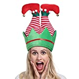 ADJOY Funny Christmas Party Hat - Elf Pants Santa Hat for Christmas Ugly Sweater Party