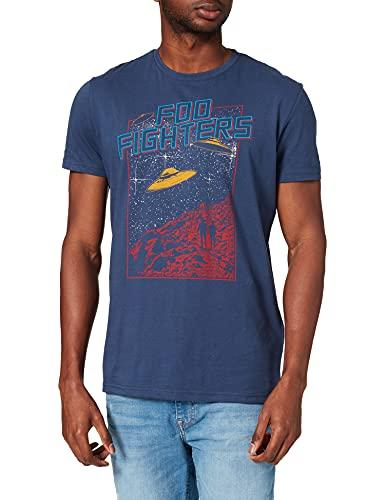 Springfield Camiseta Foo Fighters, Azul Oscuro, S para Hombre