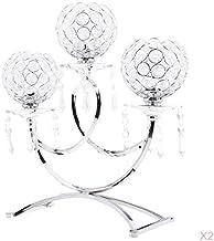 MagiDeal 5pcs Vintage Silver Crystal Wedding Banquet Table Tealight Votive Candle Holder Candelabra Centerpieces
