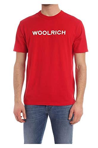 WOOLRICH T Shirt Logo Uomo Rosso M