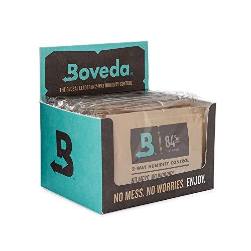 Boveda für Zigarren | 2-Wege-Feuchtigkeitskontrolle mit 84 {55bee93ece3e2ad6fee3198ca6729cbc4345f786b228c1f5905c13d60135bcc2} relativer Feuchtigkeit zum Einrichten eines Humidors | Größe 60 zur Verwendung für jeweils 25 Zigarren im Humidor | für die richtige Einrichtung eines Humidors aus Holz innerhalb von 14 Tagen | Verkaufskarton mit 12 Stück