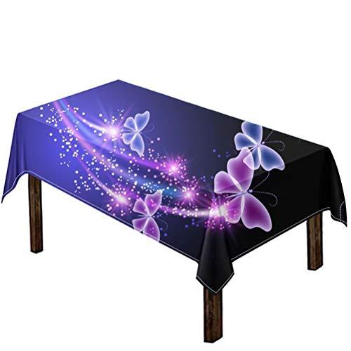 chaqlin - Mantel rectangular resistente a las manchas para mujer, diseño de mariposas, para decoración de fiestas, comedor, 150 x 200 cm